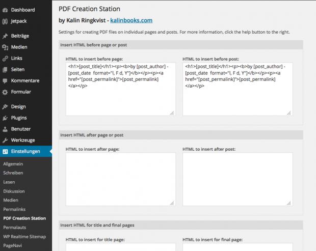 pdf-creation-station-settings-einstellungen-menu